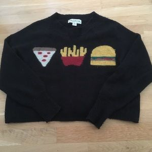 Wildfox Pizza Fries Burger Sweater